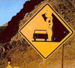 Funniest Road Sign Cow Falling